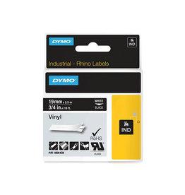 Dymo Dymo RHINO vinyltape 19 mm, wit op zwart [5st]