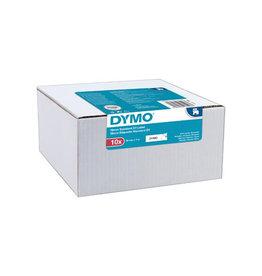 Dymo Dymo D1 tape 9 mm, zwart op wit, pak van 10 stuks