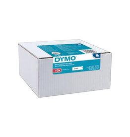 Dymo Dymo D1 tape 19 mm, zwart op wit, pak van 10 stuks