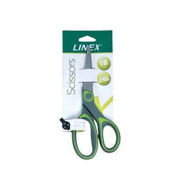 Linex Linex schaar 17,5 cm, groen, op blister