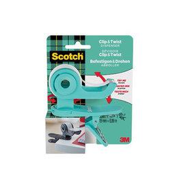 Scotch Scotch clip & twist plakbandafroller inclusief 1 rollen
