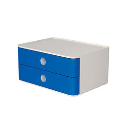 Han Han ladenblok Allison, smart-box met 2 laden, wit/blauw