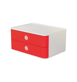 Han Han ladenblok Allison, smart-box met 2 laden, wit/rood