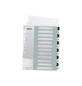 Leitz Leitz WOW printbare index, 12 tabs, zwart-wit