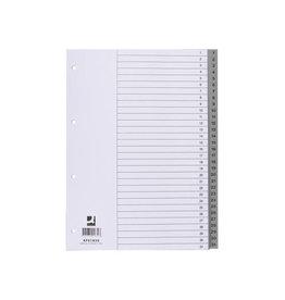 Q-CONNECT Q-Connect tabbladen set 1-31, met indexblad, ft A4, grijs