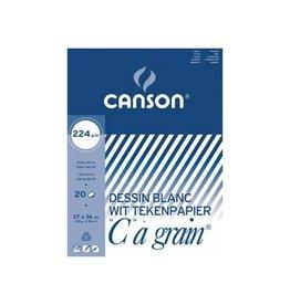 """Canson Canson Tekenblok """"C"""" à grain 224 g/m², ft 27 x 36 cm"""