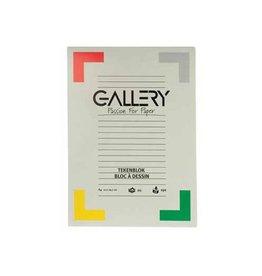 Gallery Gallery tekenblok A4 extra zwaar houtvrij papier 190g/m² 20v