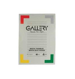 Gallery Gallery Bristol tekenblok, 21 x 29,7cm, A4, 200 g m², 20 vel