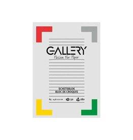Gallery Gallery schetsblok, 14,8x21cm (A5), 180  g/m², blok 50 vel