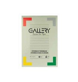 Gallery Gallery Steinbach tekenblok, 21x29,7 cm A4, 200 g/m², 20 vel
