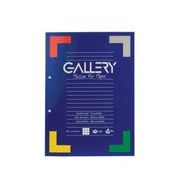 Gallery Gallery cursusblok, A4, 80 g/m², 2-gaats. 5mm 100vel