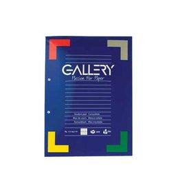 Gallery Gallery cursusblok, A4, 80 g/m², 2-gaatsperforatie, 100 vel