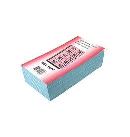 Merkloos Garderobeblokken nummers van 501 t.e.m. 1.000, blauw