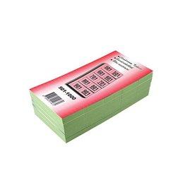 Merkloos Garderobeblokken nummers van 501 t.e.m. 1.000, groen