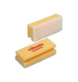 Vileda Vileda spons Glitzi Quattro, geel, pak van 10 stuks