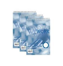 Work Work kopspiraalblok, ft A5, 70 gr ,gelijnd, 200 bladzijden