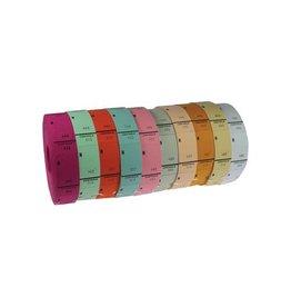 Merkloos Ticketrollen geassorteerde kleuren [10st]
