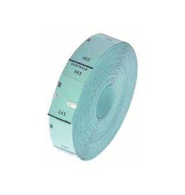 Merkloos Ticketrol, 1000 tickets, blauw