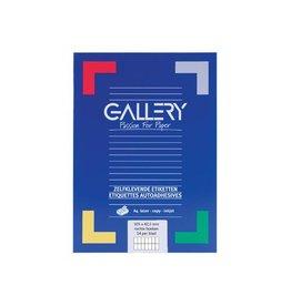 Gallery Gallery witte etik. 105x42,3 mm rechte hoeken, 1.400 etik.