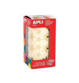Apli Kids Apli Kids stickers op rol, ster, 2360 stuks, metallic goud