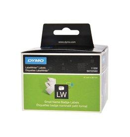 Dymo Dymo etik. LabelWriter 89x41mm verwijderbaar, wit, 300 etik.