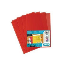 Elba Elba L-map Shine, rood, pak van 10 stuks