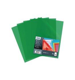 Elba Elba L-map Shine, transparant groen, pak van 10 stuks