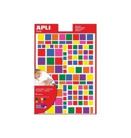 Apli Kids Apli Kids verwijderbare stickers, vierkant, 756st in div.kl.