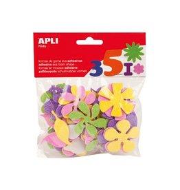 Apli Kids Apli Kids zelfklevende glitter bloemen, blister met 48 stuks