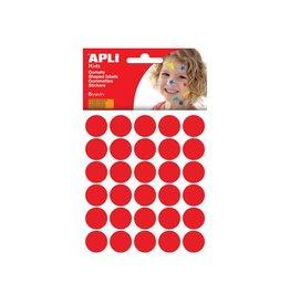 Apli Kids Apli Kids stickers, cirkel 20mm, blister met 180st, rood