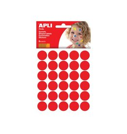 Apli Kids Apli Kids stickers cirkel diameter 20mm met 180st rood