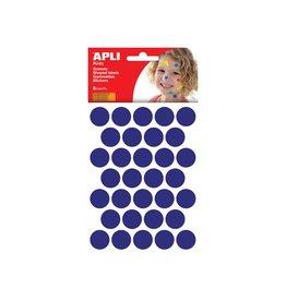 Apli Kids Apli Kids stickers, cirkel dia. 20mm blister met 180st blauw