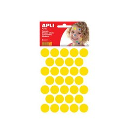 Apli Kids Apli Kids stickers, cirkel 20mm, blister met 180st, geel