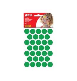 Apli Kids Apli Kids stickers, cirkel dia. 20mm, blister 180st, groen