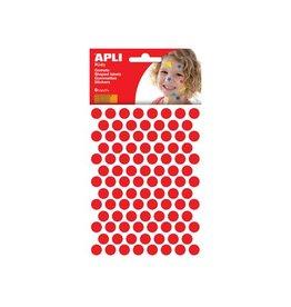 Apli Kids Apli Kids stickers, cirkel 10,5mm, blister met 528st, rood