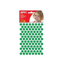Apli Kids Apli Kids stickers, cirkel 10,5mm, blister met 528st, groen