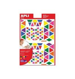 Apli Kids Apli Kids verwijderbare stickers, driehoek, 720st in div.kl.