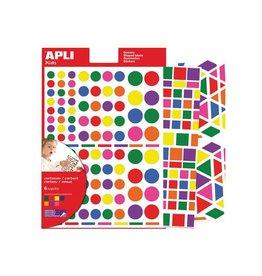 Apli Kids Apli Kids verwijderbare stickers, div. vormen, kl. 664st