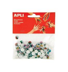 Apli Kids Apli bewegende ogen kleur rond 100 stuks [5st]