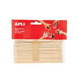 Apli Kids Apli jumbo houten sticks, blister met 40 stuks [5st]