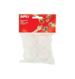 Apli Kids Apli isomobol, diameter 45 mm, blister met 4 stuks
