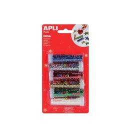 Apli Kids Apli Kids glitterpoeder, blister met 6 tubes in assorti