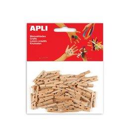 Apli Kids Apli houten mini wasknijpers, blister met 45 stuks