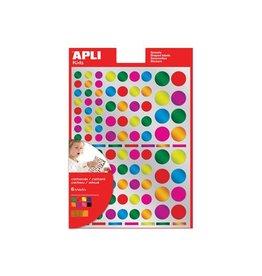 Apli Kids Apli Kids stickers cirkel 624st metallic kleuren en groottes