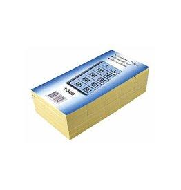 Merkloos Garderobeblokken nummers van 1 t.e.m. 500, blauw
