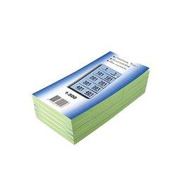 Merkloos Garderobeblokken nummers van 1 t.e.m. 500, groen