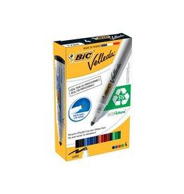 Velleda Bic whiteboardmarker 1701 doos 4st in geassorteerde kleuren