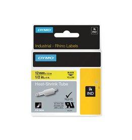 Dymo Dymo RHINO krimpkous 12 mm, zwart op geel