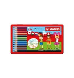Stabilo Stabilo kleurpotlood Color 12 potloden in een metalen doos