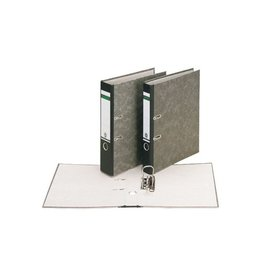 Leitz Leitz  ordner, ft folio, rug 80mm, karton, gewolkt zwart